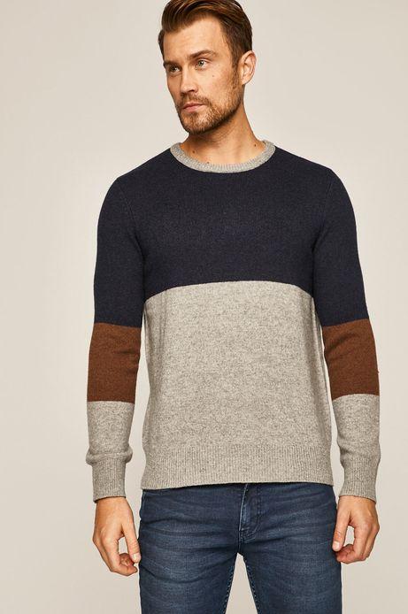 Sweter męski wełniany w pasy