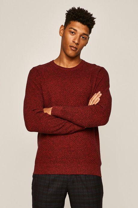Sweter męski z okrągłym dekoltem czerwony
