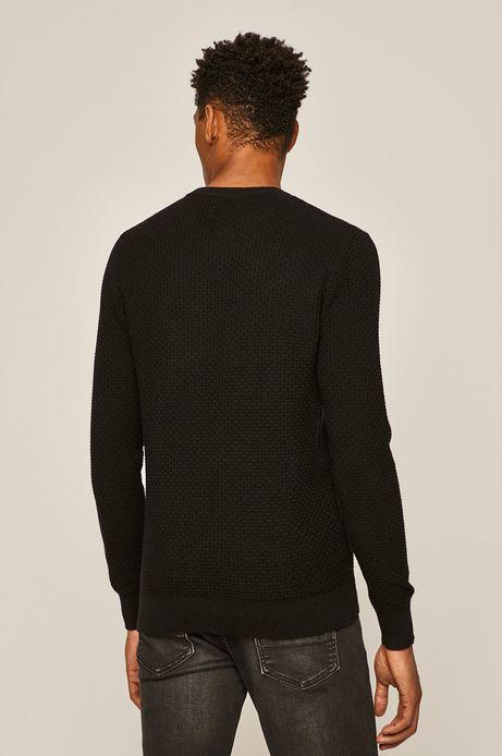 Sweter męski z okrągłym dekoltem czarny