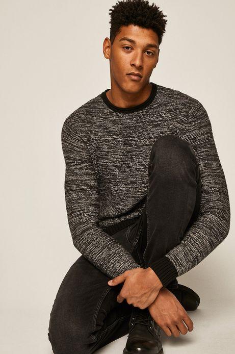 Sweter męski z okrągłym dekoltem szary