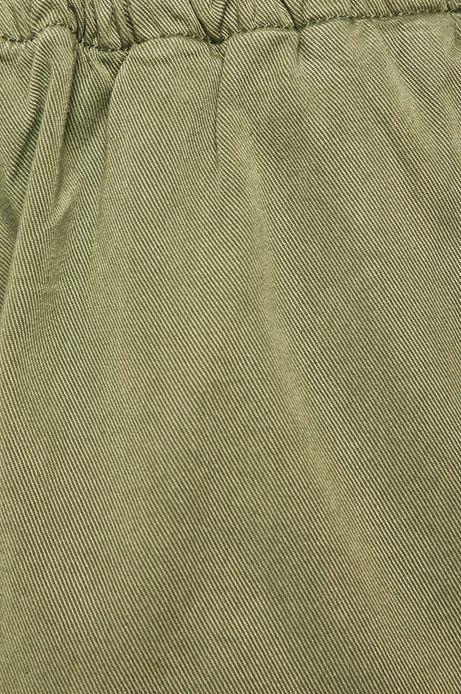 Szorty damskie z denimu zielone