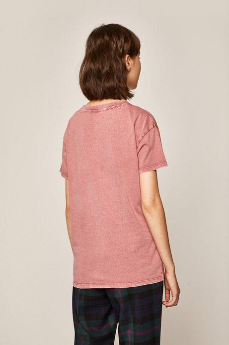 T-shirt damski z kieszonką różowy