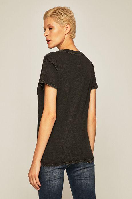 T-shirt damski z kieszonką szary