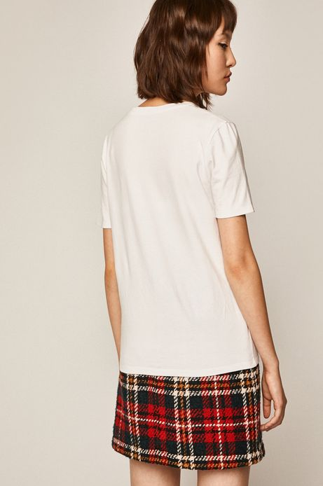 T-shirt damski biały