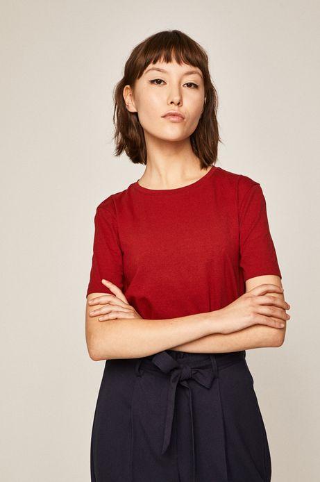 T-shirt damski czerwony