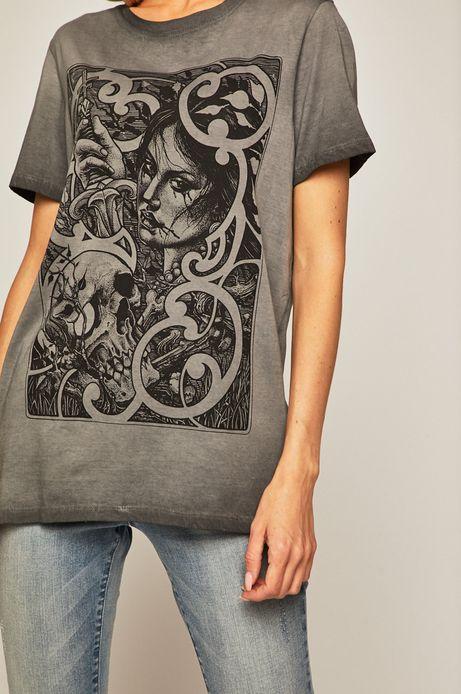 T-shirt damski by Mariusz Romanowicz, Tattoo Konwent szary