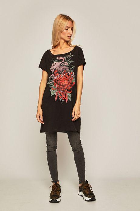 T-shirt damski by Agata Morzyk, Tattoo Konwent czarny