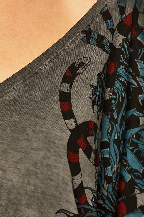T-shirt damski by Joanna Krótka szary