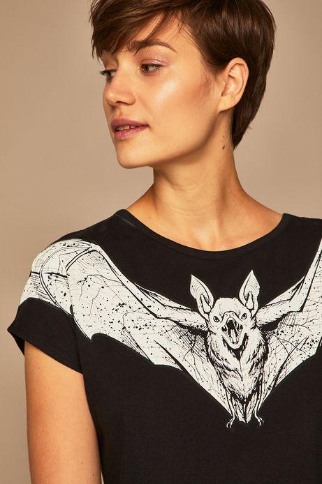 T-shirt damski by Weronika Kolinska czarny