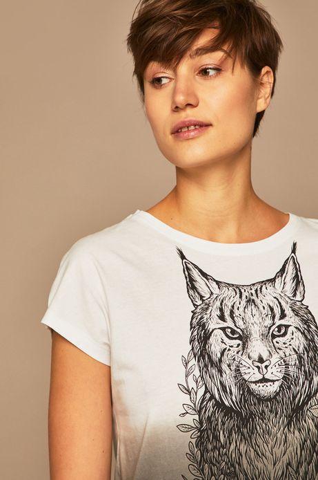 T-shirt damski by Weronika Kolinska biały