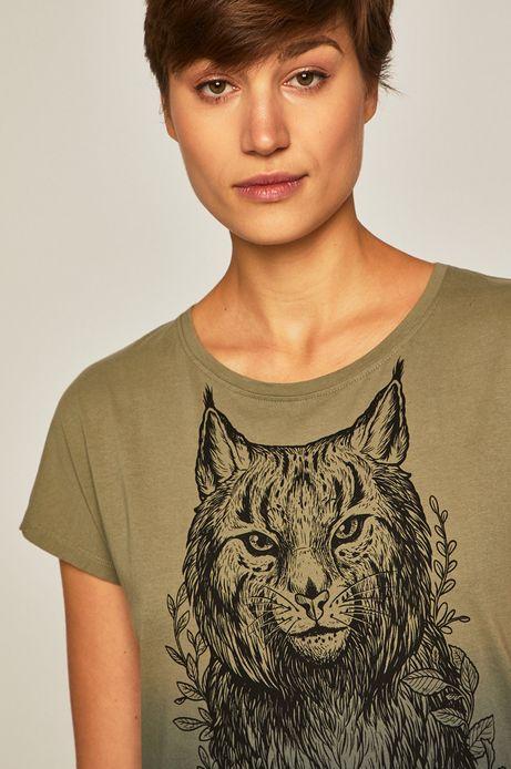 T-shirt damski by Weronika Kolinska zielony