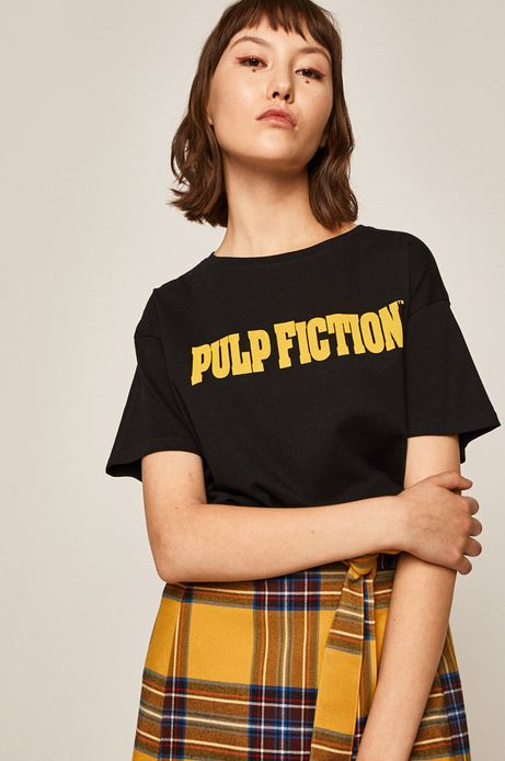 T-shirt damski Movies czarny