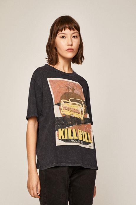 T-shirt damski Movies szary