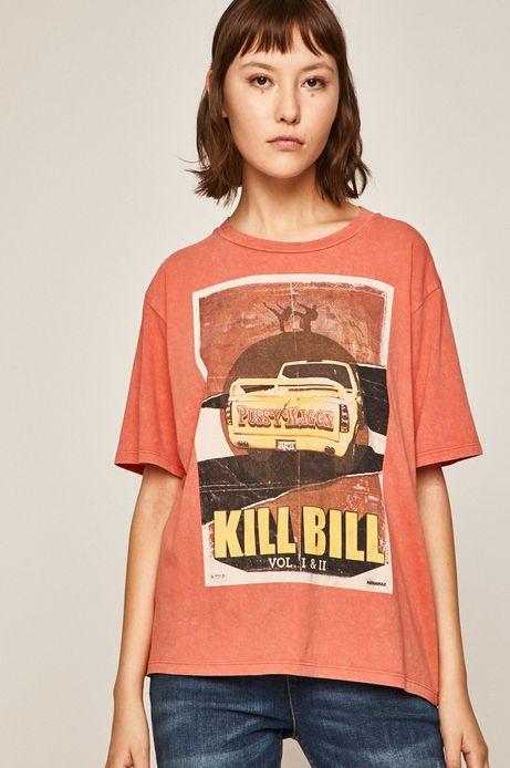 T-shirt damski Movies czerwony