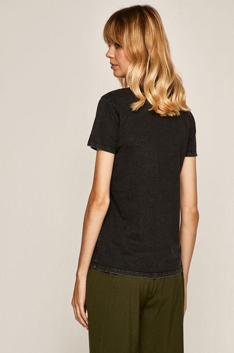 T-shirt damski z nadrukiem czarny
