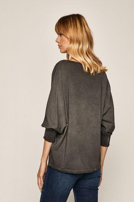 Bluzka damska z nadrukiem szara