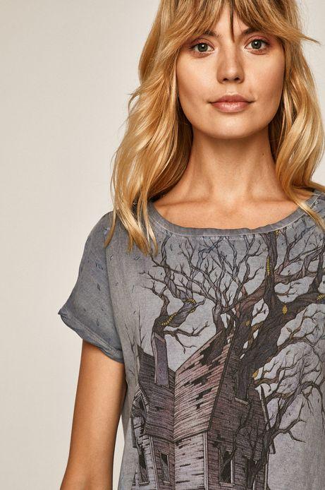 T-shirt damski by Lenka Šimečková niebieski