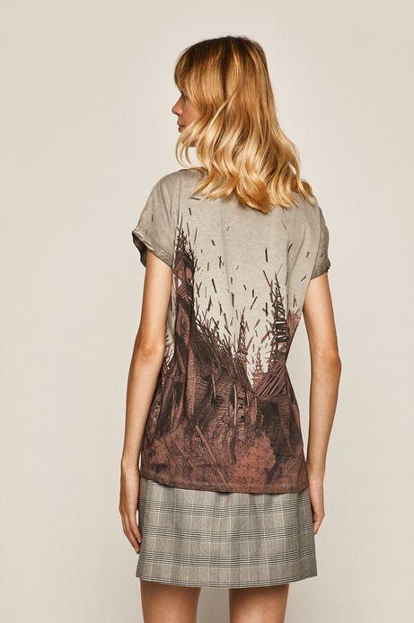 T-shirt damski by Lenka Šimečková kremowy