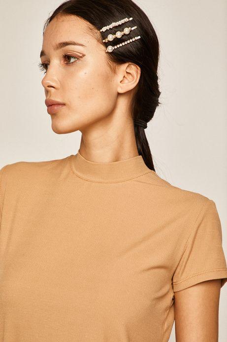 Bluzka damska z półgolfem beżowa