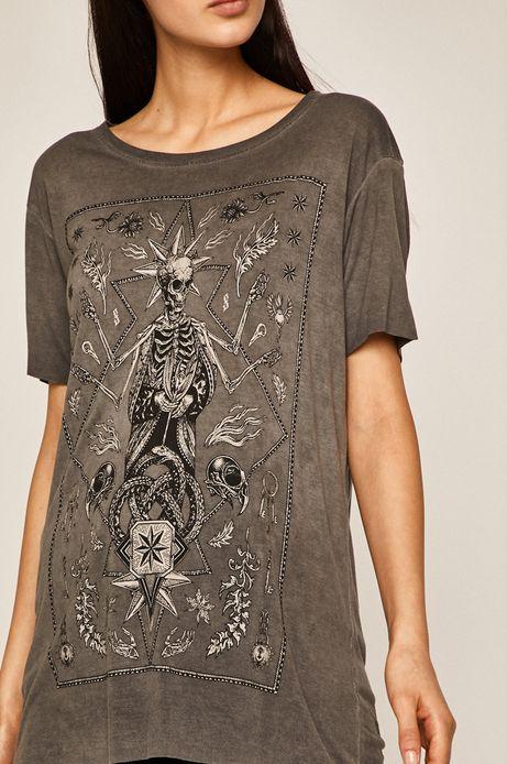 T-shirt damski Halloween by Paulina Czak szary