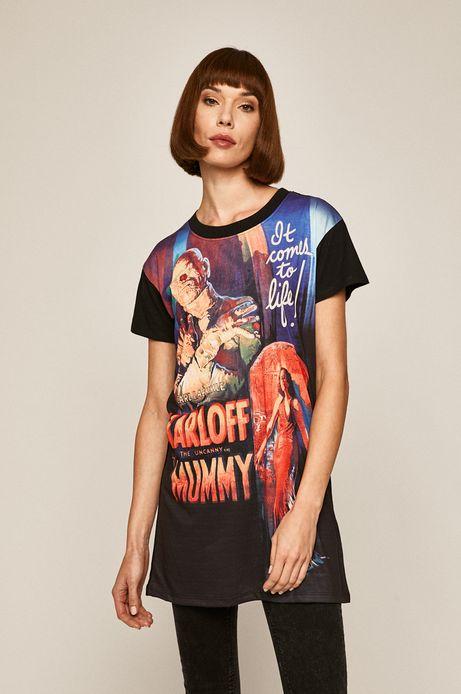 T-shirt damski z nadrukiem Iconic Movies czarny