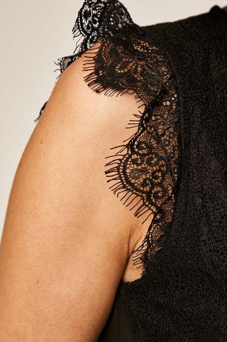 Body damskie z koronkową wstawką czarne