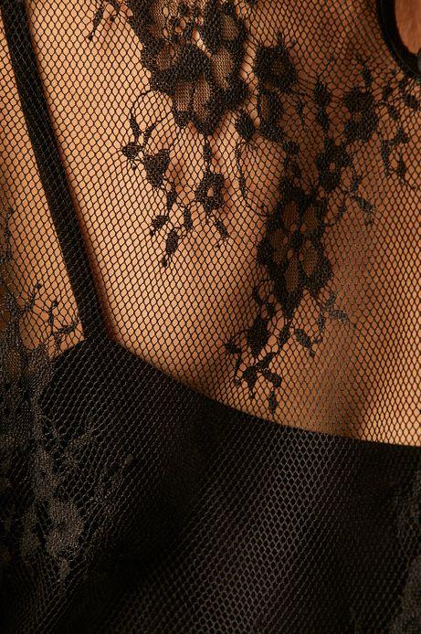 Bluzka damska z koronką czarna