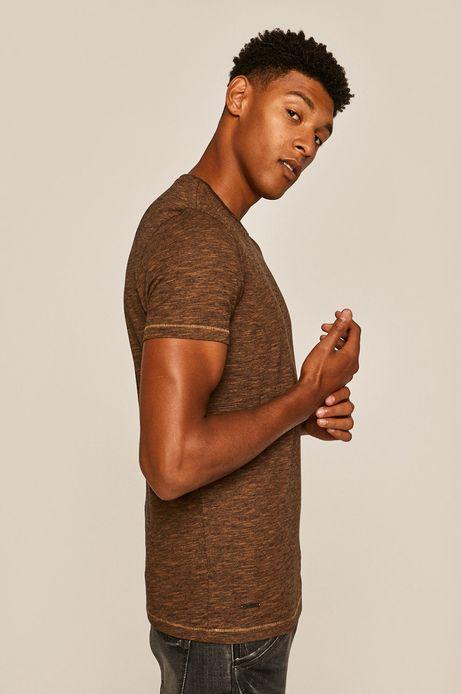 T-shirt męski beżowy