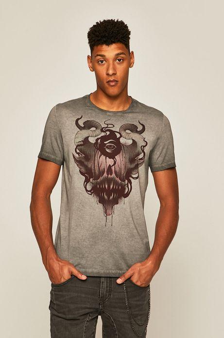 T-shirt męski by Konrad ibn Kondrat, Tattoo Konwent szary