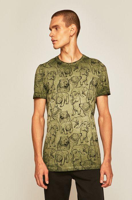 T-shirt męski by Weronika Kolinska zielony
