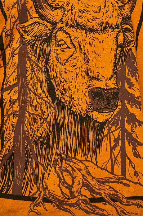 T-shirt męski by Weronika Kolinska żółty