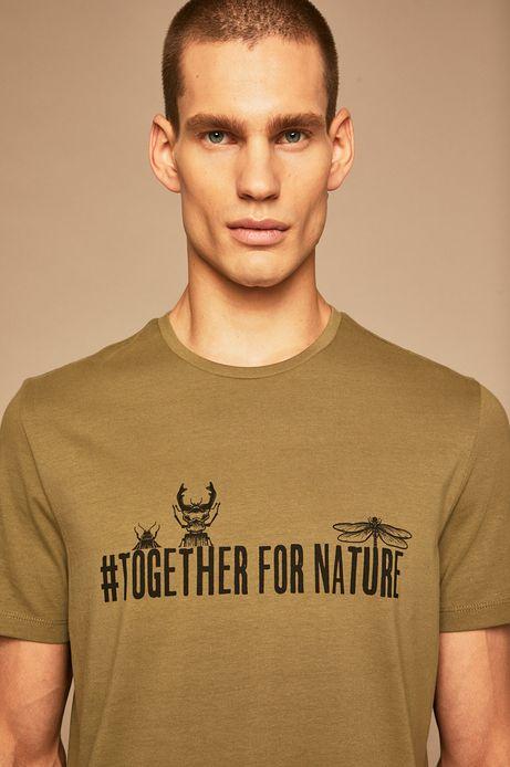 T-shirt męski by Weronika Kolinska oliwkowy