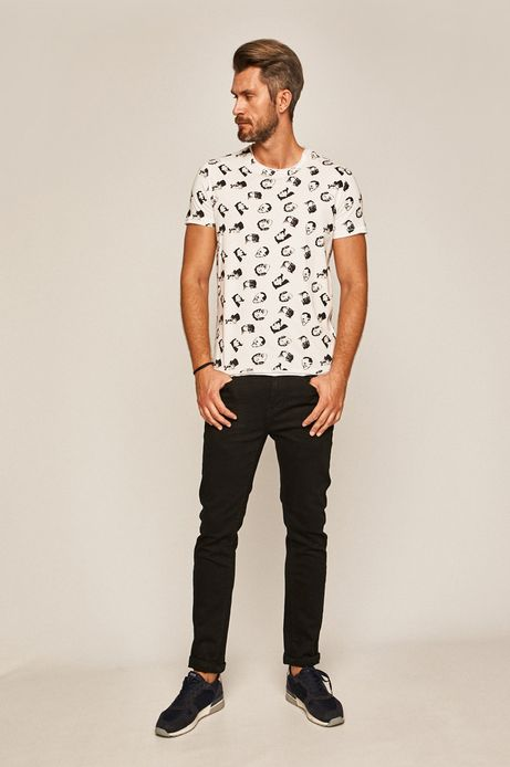 T-shirt męski MOVIES biały