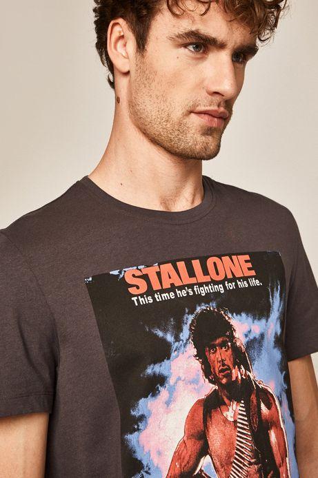 T-shirt męski Movies szary
