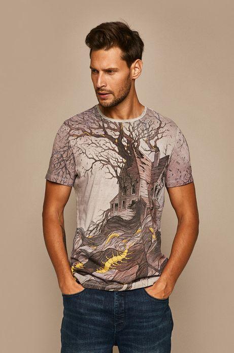T-shirt męski by Lenka Šimečková szary