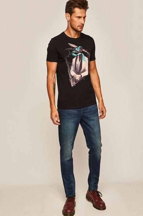 T-shirt męski by Lenka Šimečková czarny
