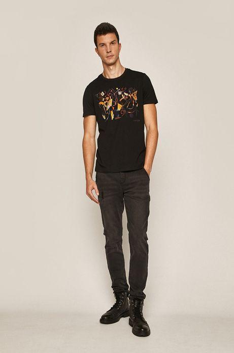 T-shirt męski by Wassily Kandinsky czarny