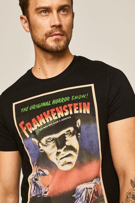 T-shirt męski z nadrukiem Iconic Movies czarny