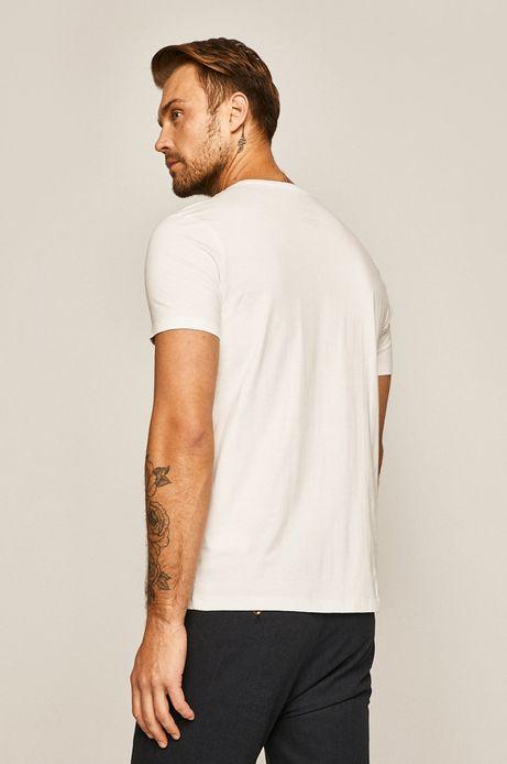T-shirt męski z nadrukiem Music Wall biały