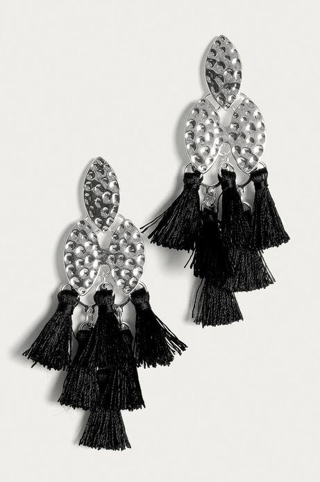 Kolczyki damskie z frędzlami srebrne