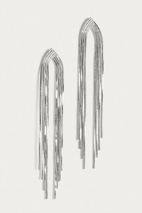 Kolczyki damskie wiszące srebrne