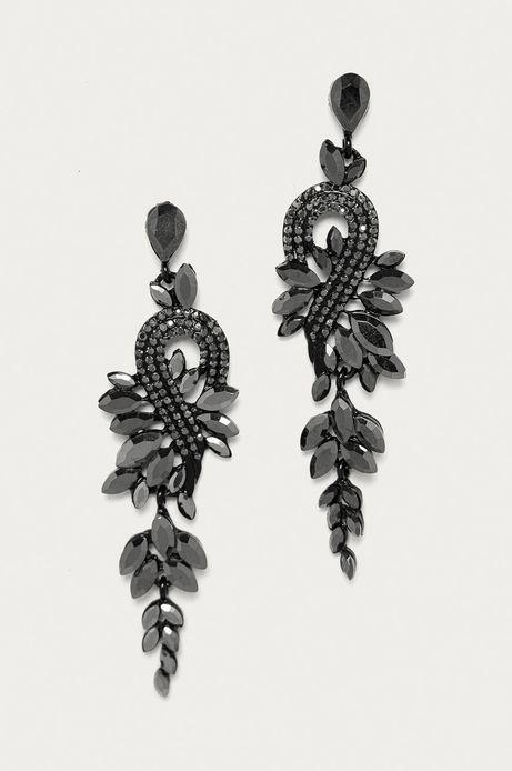 Kolczyki damskie z kryształkami czarne