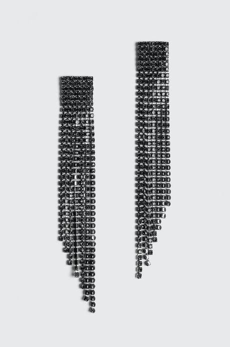 Kolczyki damskie Basic czarne