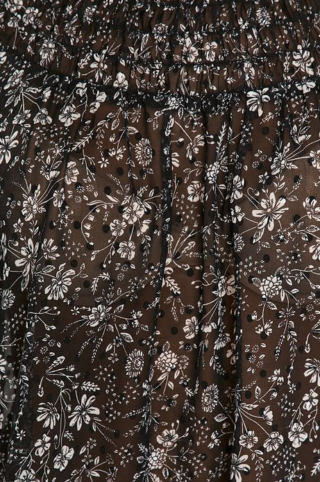 Bluzka damska w kwiatki czarna