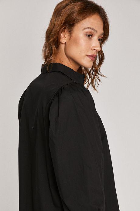 Koszula damska z bufiastymi rękawami czarna