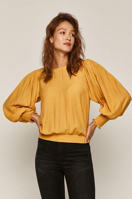 Bluzka z szerokimi rękawami żółta