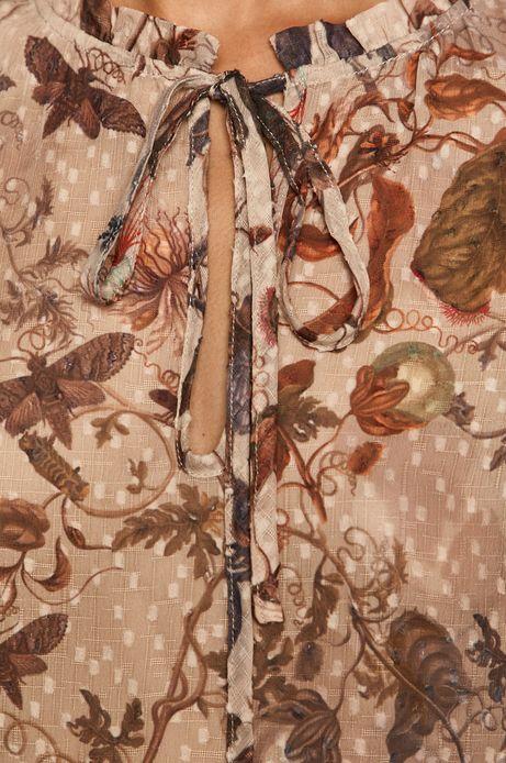 Bluzka damska z falbanką wzorzysta