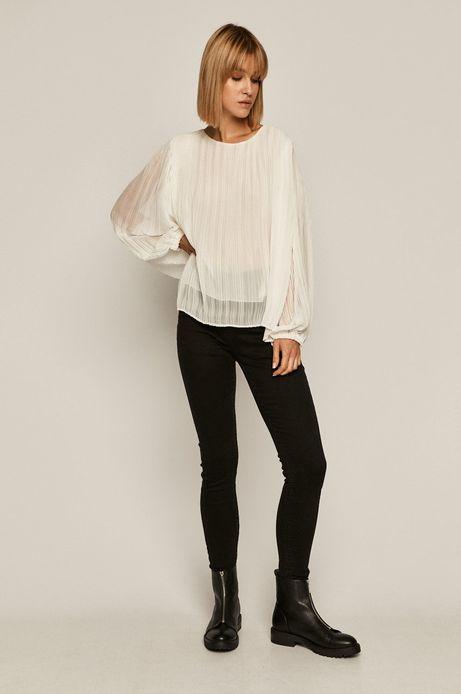 Bluzka damska plisowana biała