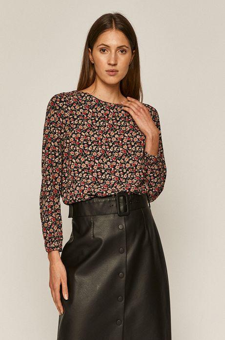 Bluzka damska z wiązaniem na plecach wzorzysta