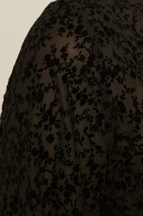 Bluzka damska wzorzysta czarna